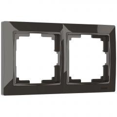 Werkel Рамка на 2 поста (серо-коричневый, basic) W0022007