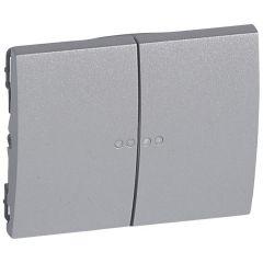 Клавиша Legrand Galea Life выключателя двойная с индикацией алюминий 771379