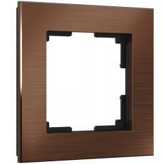 Werkel Рамка на 1 пост (коричневый алюминий) W0011714