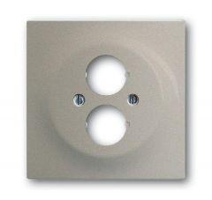 Лицевая панель ABB Impuls аудиорозетки двойной шампань-металлик 2CKA001753A5457