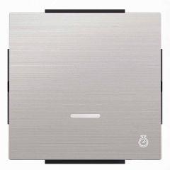 Лицевая панель ABB Sky электронного выключателя с таймером нержавеющая сталь 2CLA856200A1401