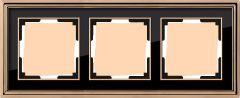 Werkel Рамка Palacio на 3 поста (золото/черный) WL17-Frame-03
