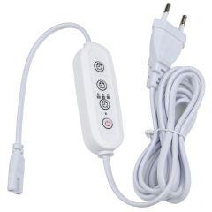Таймер с вилкой и разъемом для фито светильника (UL-00006492) Uniel UST-E32 WHITE 2M