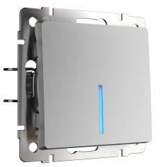 Werkel Выключатель одноклавишный с подсветкой (серебряный) W1110106