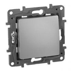Выключатель одноклавишный Legrand Etika 10A 250V алюминий 672401