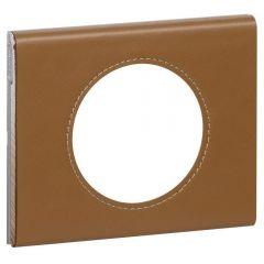 Рамка 1-постовая Legrand Celiane кожа карамель 069421