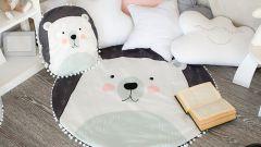 Крошка Я Набор из пледа детского и подушки (90x90 см) Мишка