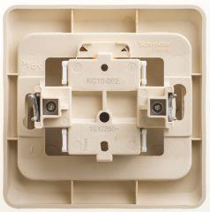 Выключатель Schneider Electric ЭТЮД кнопочный с самовозвратом С/У 10АX КРЕМОВЫЙ