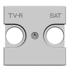 Лицевая панель ABB Zenit розетки TV-R-SAT серебро N2250.1 PL
