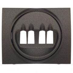 Лицевая панель Legrand Galea Life двойной розетки акустических систем темная бронза 771225