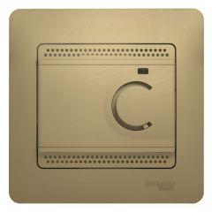 Schneider Electric GLOSSA ТЕРМОСТАТ электрон.теплого пола с датчиком,от+5до+50°C,10A,в сборе, ТИТАН