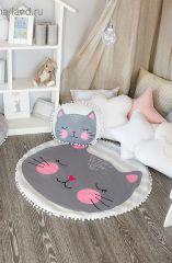 Крошка Я Набор из пледа детского и подушки (90x90 см) Кошечка