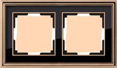 Werkel Рамка Palacio на 2 поста (золото/черный) WL17-Frame-02