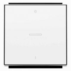Лицевая панель ABB Sky выключателя одноклавишного с подсветкой символом I/O альпийский белый 2CLA850140A1101