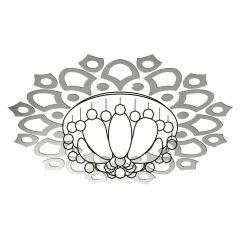 Декор настенно-потолочный Ваша Светлость АСТРАНЦИЯ-12 хром 2-00801CR Комплект наклеек