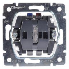 Переключатель одноклавишный на 2 направления Legrand Galea Life 10A 250V с подсветкой 775820