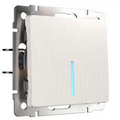 Werkel Выключатель одноклавишный проходной с подсветкой (перламутровый рифленый) W1112113