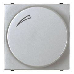 Диммер поворотный для люминисцентных ламп ABB Zenit серебро N2260.9 PL