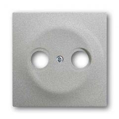 Лицевая панель ABB Impuls розетки TV-R серебристо-алюминиевый 2CKA001753A0040