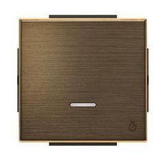 Лицевая панель ABB Sky выключателя одноклавишного с таймером античная латунь 2CLA856200A1201