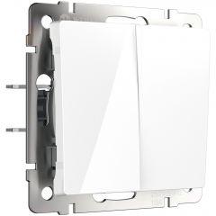 Werkel Выключатель двухклавишный (белый) W1120001