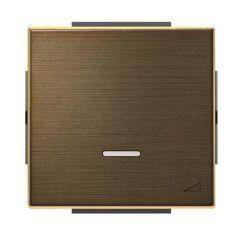 Лицевая панель ABB Sky диммера клавишного античная латунь 2CLA856010A1201