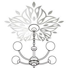 Декор настенно-потолочный Ваша Светлость ЛАНДЫШ-5 хром 2-00601CR Комплект наклеек