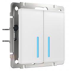 Werkel Сенсорный выключатель двухклавишный с функцией Wi-Fi (белый) W4520601
