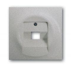 Лицевая панель ABB Impuls розетки UAE серебристо-алюминиевый 2CKA001753A0087