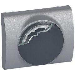 Лицевая панель Legrand Galea Life электронного термостата алюминий 771353