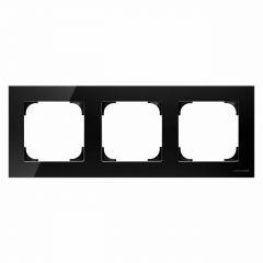 Рамка 3-постовая ABB Sky стекло чёрное 2CLA857300A3101