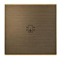 Лицевая панель ABB Sky выключателя выключателя с подсветкой античная латунь 2CLA851400A1201