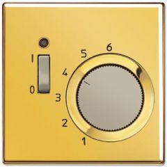 Термостат комнатный 10(4)А 24V НЗ-контакт Jung LS 990 блеск золота TRGO241