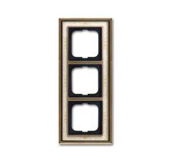 Рамка 3-постовая ABB Dynasty латунь античная/белая роспись 2CKA001754A4592