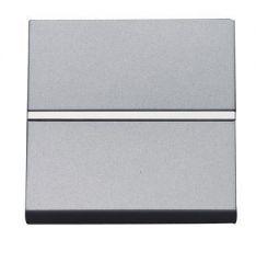 Выключатель кнопочный одноклавишный ABB Zenit 16A 250V НЗ-контакт серебро N2204.6 PL