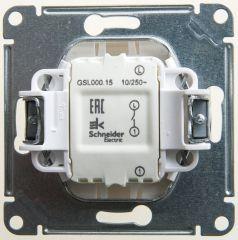 Schneider Electric GLOSSA Нажимная КНОПКА, сх.1, 10АХ, механизм, ПЕРЛАМУТР