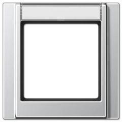 Рамка 1-постовая с шильдиком Jung A 500 алюминий A581NAAL