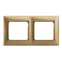 Рамка 2-постовая Legrand Valena матовое золото 770302