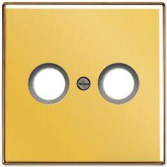 Накладка TV-FM розетки Jung LS 990 золото LS990TVGGO