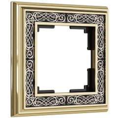 Werkel Рамка на 1 пост (золото/черный) W0011430