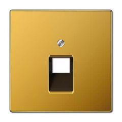 Накладка 1-ой наклонной телефонной/компьютерной розетки Jung LS 990 золото LS969-1UAGGO