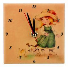 АРТИ-М Настольные часы (10x10 см) Милые девочки 354-1325
