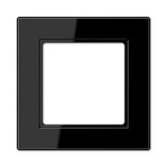 Рамка 1-постовая Jung A creation черная AC581SW