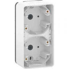 Schneider Electric MUREVA S ДВОЙНОЙ БОКС для накладного монтажа вертикальный, БЕЛЫЙ, IP55