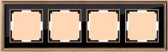 Werkel Рамка Palacio на 4 поста (золото/черный) WL17-Frame-04