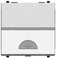 Выключатель кнопочный одноклавишный ABB Zenit 16A 250V Звонок серебро N2204 PL