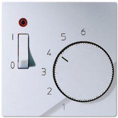 Накладка термостата комнатного с выключателем Jung A 500 алюминий ATR231PLAL