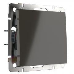 Werkel Выключатель одноклавишный (серо-коричневый) WL07-SW-1G