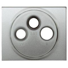 Лицевая панель Legrand Galea Life розетки TV-RD-SAT алюминий 771389