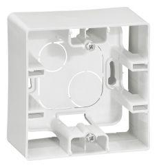 Коробка для накладного монтажа 1-постовая Legrand Etika белая 672510